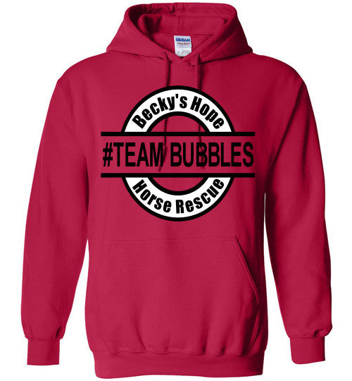 Becky's Hope Horse Rescue #TEAM BUBBLES Hoodie - Furbabies.love - 2