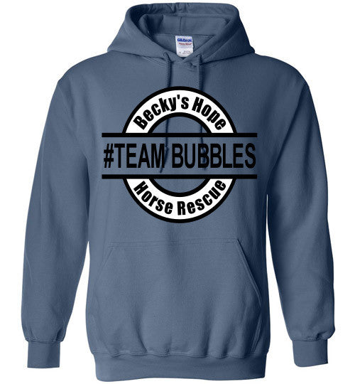Becky's Hope Horse Rescue #TEAM BUBBLES Hoodie - Furbabies.love - 4
