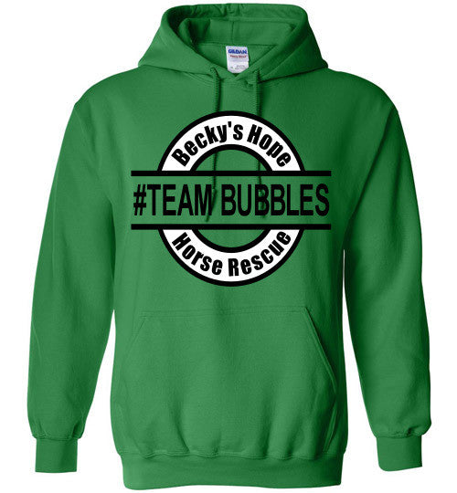 Becky's Hope Horse Rescue #TEAM BUBBLES Hoodie - Furbabies.love - 5