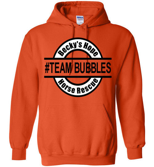 Becky's Hope Horse Rescue #TEAM BUBBLES Hoodie - Furbabies.love - 6