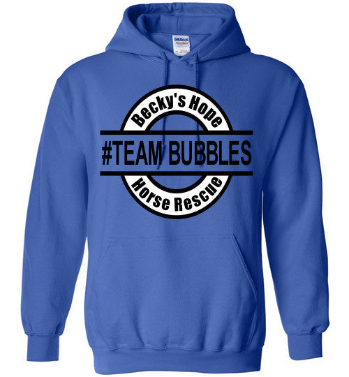Becky's Hope Horse Rescue #TEAM BUBBLES Hoodie - Furbabies.love - 7