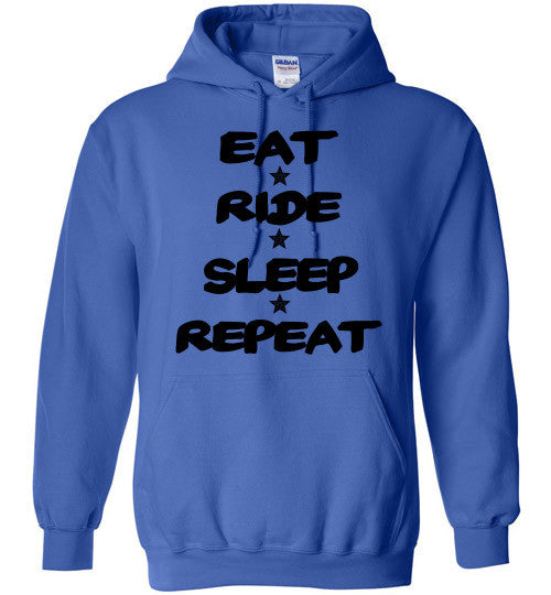 Eat Ride Sleep Repeat Hoodie Sweatshirt - Furbabies.love - 6