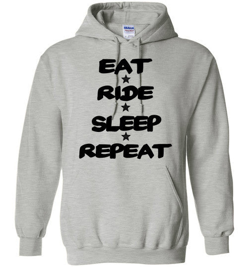 Eat Ride Sleep Repeat Hoodie Sweatshirt - Furbabies.love - 7