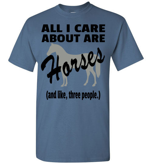 All I Care About are Horses - Short Sleeve T-shirt - Furbabies.love - 4