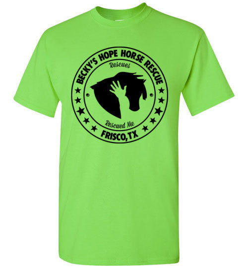 Support Becky's Hope Horse Rescue! Unisex T-shirt. - Furbabies.love