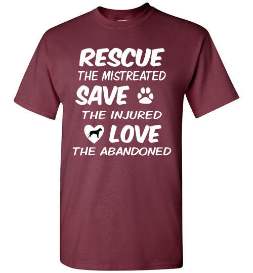 RESCUE - SAVE - LOVE - Dog