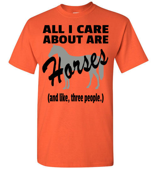 All I Care About are Horses - Short Sleeve T-shirt - Furbabies.love - 5