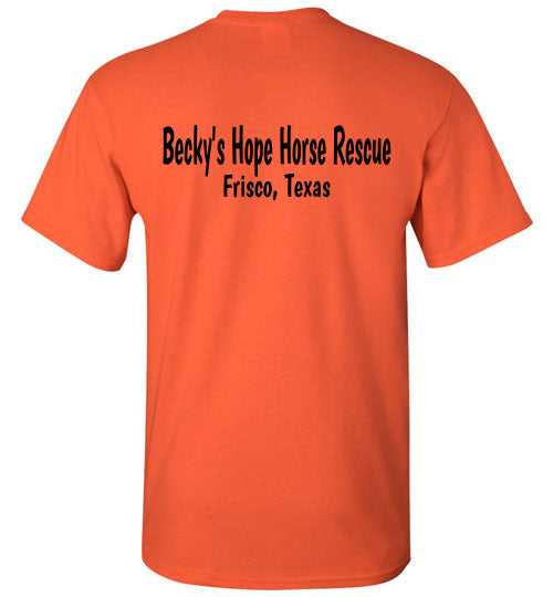 Peace, Love and Donkey's Becky's Hope Horse Rescue Tshirt