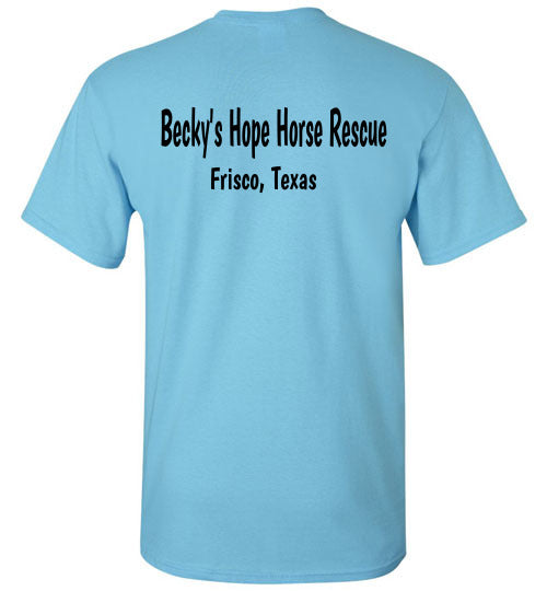 Peace, Love and Donkeys - Becky's Hope Horse Rescue T-shirt