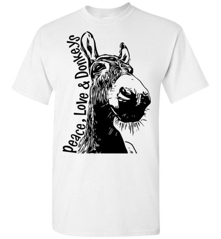 Peace Love Donkeys T-shirt