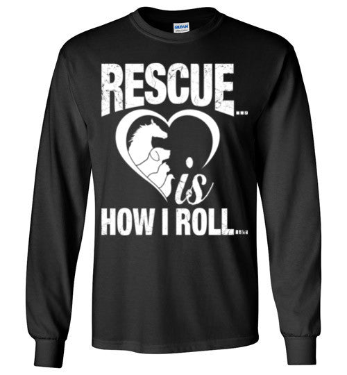Rescue is How I Roll T-shirt - Furbabies.love - 6
