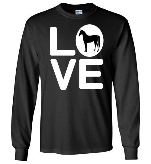 Love - Horse Long Sleeve Tee-Shirt - Furbabies.love - 2