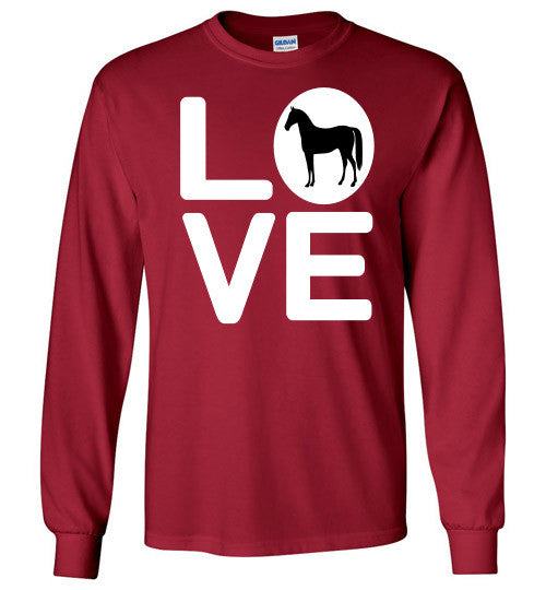 Love - Horse Long Sleeve Tee-Shirt - Furbabies.love - 3