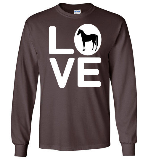 Love - Horse Long Sleeve Tee-Shirt - Furbabies.love - 4