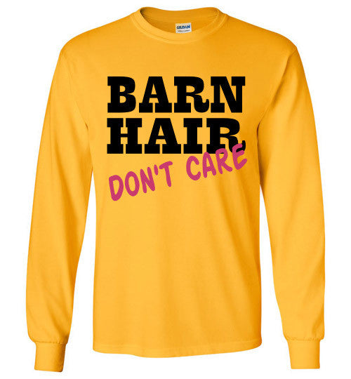 Barn Hair Don't Care Long Sleeve Tee-shirt - Furbabies.love - 4