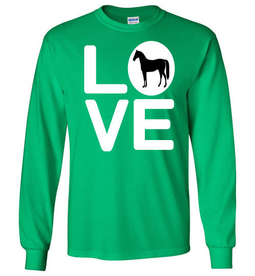 Love - Horse Long Sleeve Tee-Shirt - Furbabies.love - 5