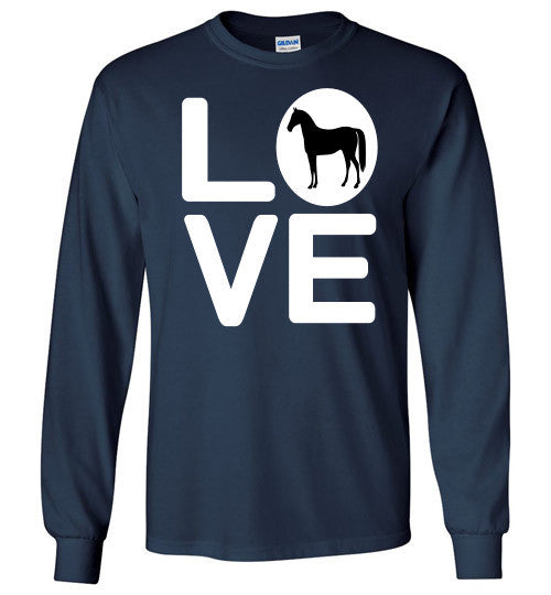 Love - Horse Long Sleeve Tee-Shirt - Furbabies.love - 6