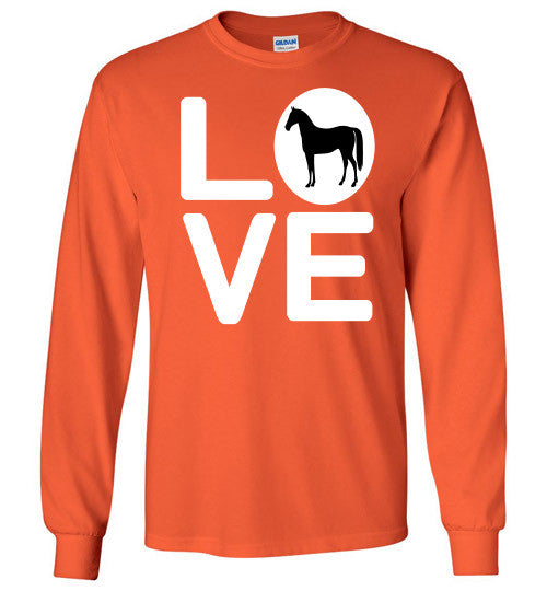 Love - Horse Long Sleeve Tee-Shirt - Furbabies.love - 7