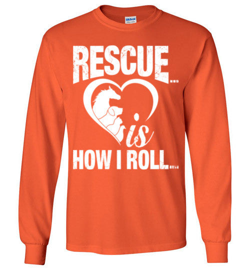 Rescue is How I Roll T-shirt - Furbabies.love - 7