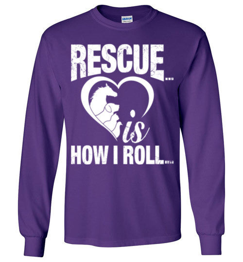 Rescue is How I Roll T-shirt - Furbabies.love - 8
