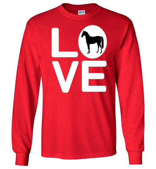 Love - Horse Long Sleeve Tee-Shirt - Furbabies.love - 9