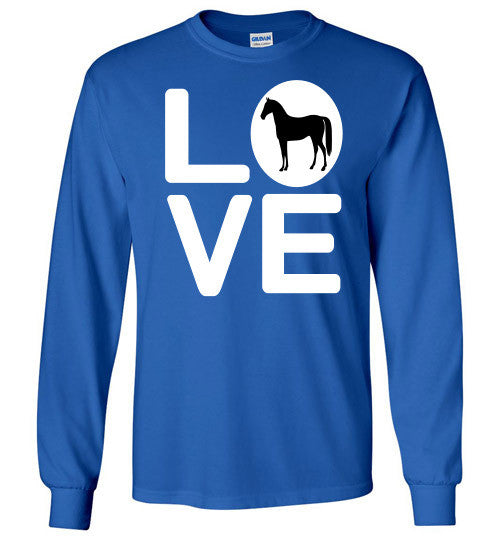Love - Horse Long Sleeve Tee-Shirt - Furbabies.love - 10
