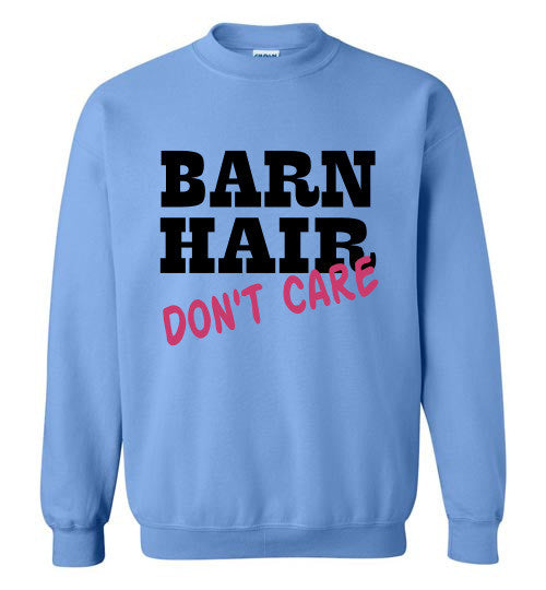 Barn Hair - Don't Care Crewneck Sweatshirt - Furbabies.love - 2