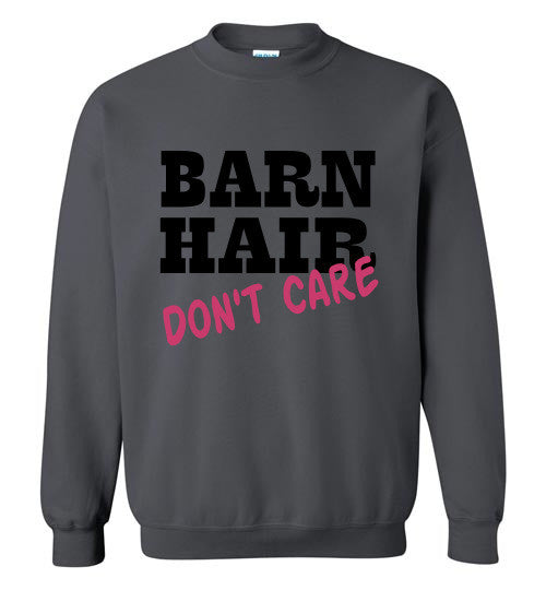 Barn Hair - Don't Care Crewneck Sweatshirt - Furbabies.love - 3