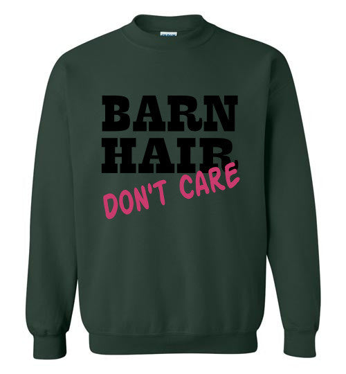 Barn Hair - Don't Care Crewneck Sweatshirt - Furbabies.love - 4