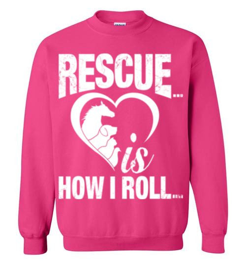 Rescue is How I Roll T-shirt - Furbabies.love - 10