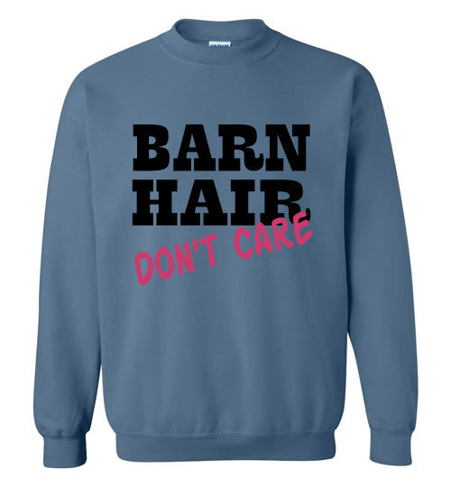 Barn Hair - Don't Care Crewneck Sweatshirt - Furbabies.love - 5