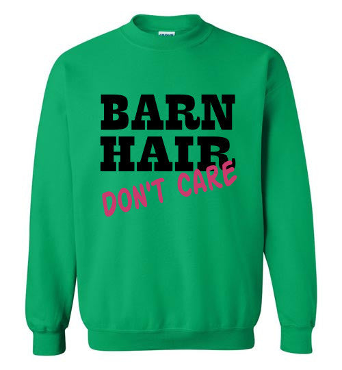 Barn Hair - Don't Care Crewneck Sweatshirt - Furbabies.love - 6