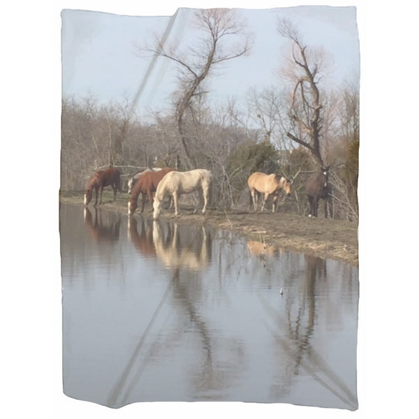 Horses of Becky's Hope Horse Rescue - Jersey Blanket - Furbabies.love - 2