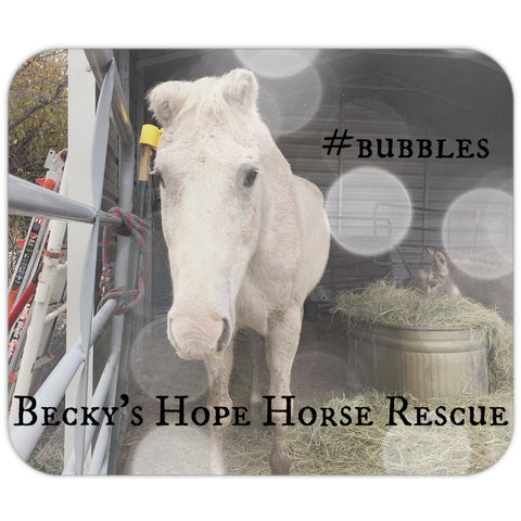 Becky's Hope Horse Rescue - #Bubbles Mousepad - Furbabies.love