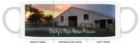 Mug - Becky's Hope Horse Rescue - Sunset - Furbabies.love