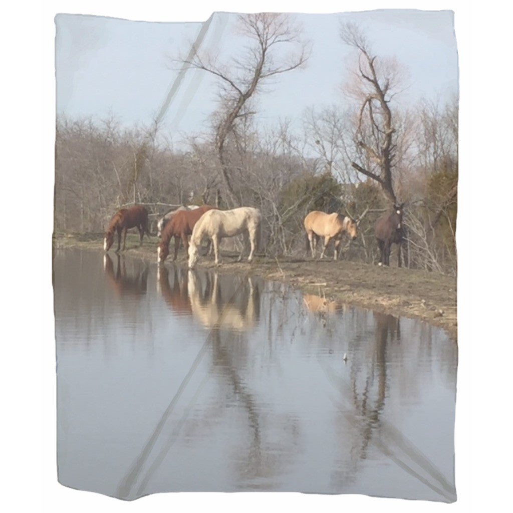 Horses of Becky's Hope Horse Rescue - Jersey Blanket - Furbabies.love - 1