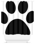 Shower curtain - paw print - Furbabies.love