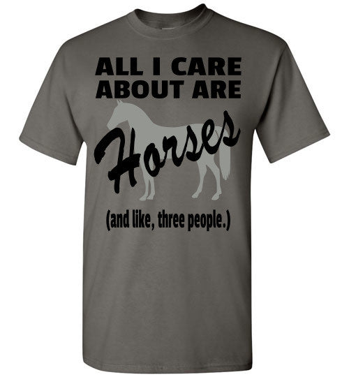 All I Care About are Horses - Short Sleeve T-shirt - Furbabies.love - 1