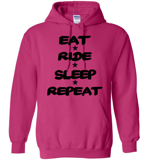 Eat Ride Sleep Repeat Hoodie Sweatshirt - Furbabies.love - 1
