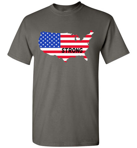 USA Strong T-shirt - Furbabies.love