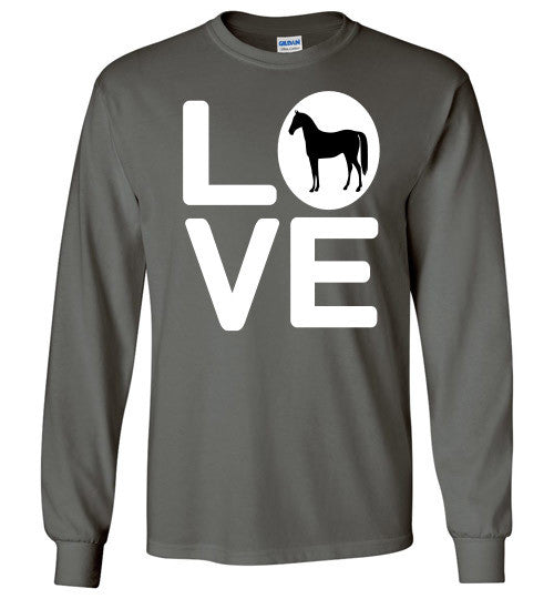 Love - Horse Long Sleeve Tee-Shirt - Furbabies.love - 1