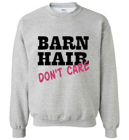 Barn Hair - Don't Care Crewneck Sweatshirt - Furbabies.love - 1