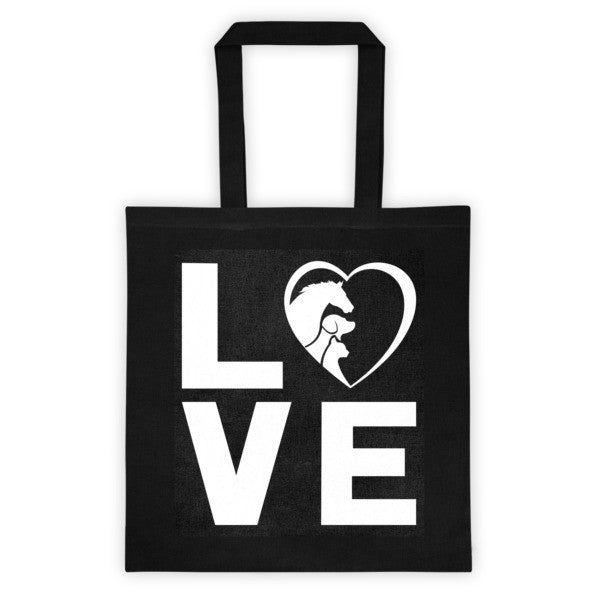 Tote bag - LOVE - Furbabies.love