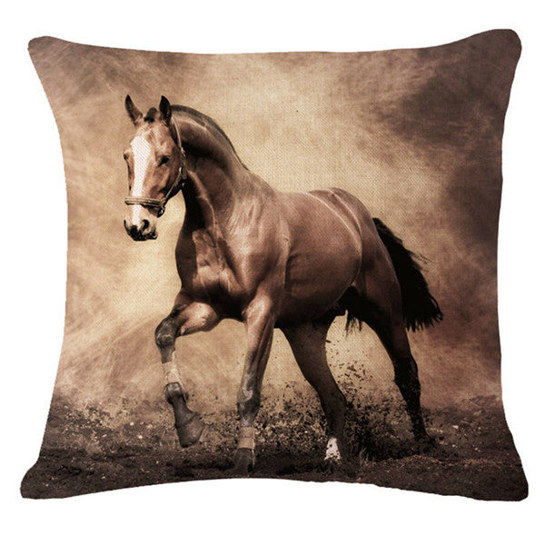 3D Horse Pattern Decorative Throw Pillows Cover  18X18 (Case Only) - Furbabies.love