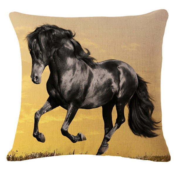 3D Horse Pattern Decorative Throw Pillows Cover  18X18 (Case Only) - Furbabies.love - 3