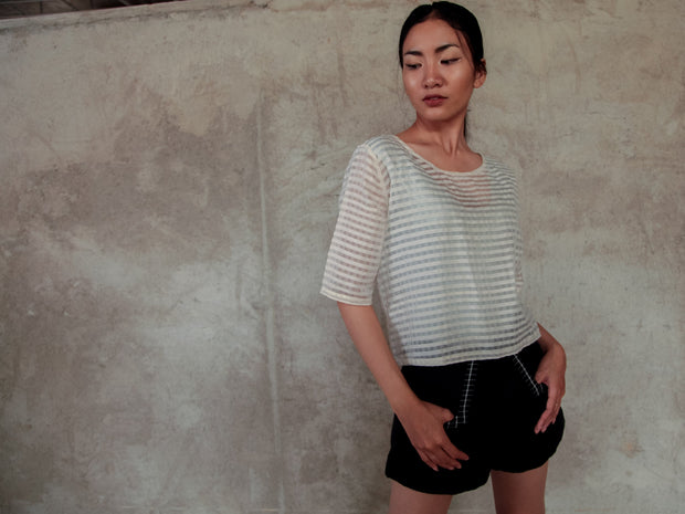 RACHANY HANDWOVEN TOP