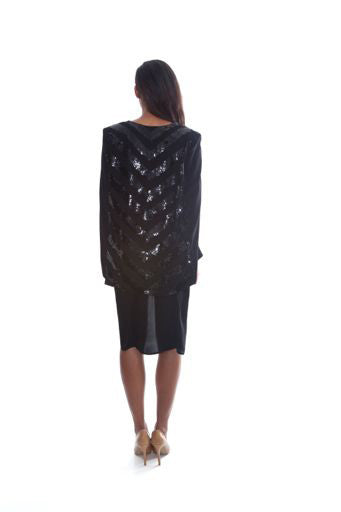 NEVEAH BEADED BLAZER CAPE