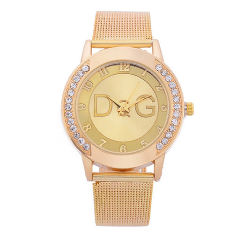 Fashion D&G Inspired Luxury Stainless Steel Buckle Wrist Watch