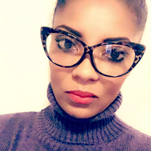 """Boss Chic"" Ladies Leopard  Vintage Clear Frames"