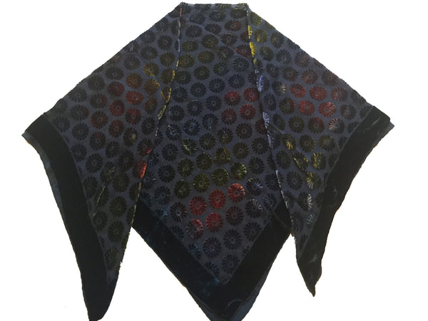 Silk Velvet Square Scarves